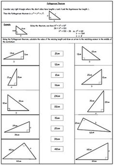 Pythagorean theorem Worksheet Answers - 50 Pythagorean theorem Worksheet Answers , Worksheets to Practice Pythagorean theorem Problems Trigonometry Worksheets, Geometry Worksheets, Kindergarten Worksheets, Algebra Activities, Maths, Pythagorean Theorem Problems, Triangle Worksheet, Persuasive Writing Prompts, Teaching Geometry