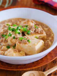 煮るだけ5分♪包丁いらず『崩し豆腐の上海風♡そぼろあんかけ』 by Yuu 「写真がきれい」×「つくりやすい」×「美味しい」お料理と出会えるレシピサイト「Nadia   ナディア」プロの料理を無料で検索。実用的な節約簡単レシピからおもてなしレシピまで。有名レシピブロガーの料理動画も満載!お気に入りのレシピが保存できるSNS。