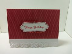 Stampin' Up Handmade Die Cut Happy Birthday Card by donnainksLa, $4.00