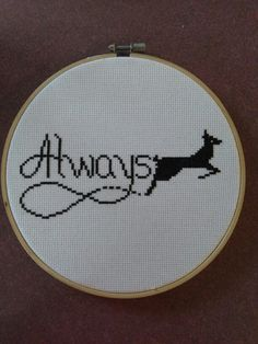 Harry Potter - Always cross stitch. Idea from etsy.