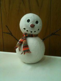 papier mache snowman