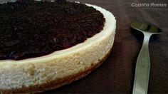 Cheesecake com ricota e geleia caseira