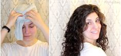 "curls | How to ""Plop"" Your Curls to Perfection Overnight"