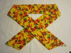 """Extra Wide 3"""" Reusable Non-Toxic Cool Wrap / Neck Cooler  - Peppers - Red Peppers on Yellow by ShawnasSpecialties on Etsy"""