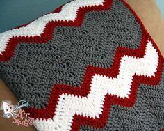 Sale Crochet afghan pattern chevron blanket by ktandthesquid