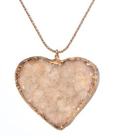 •PEPPINA•NECK•  BEIGE HEART OF DRUZY QUARTZ  Item No.: N14  http://shop.peppina.com/products/beigeheartofdruzyquartz/    •ABOUT•US•  Peppina Jewelry incorporates everything into our necklaces, bracelets, rings and earrings from semiprecious gemstones and 22-karat gold to rose gold, rhodium, sterling silver and more!    •VISIT•US•ONLINE  www.peppina.com  www.twitter.com/peppinajewelry  www.pinterest.com/peppinajewelry  www.facebook.com/peppinajewelry