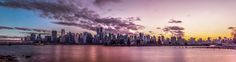 cityscape at night - North south sunsets if done at the right moment create nice gradients of dark to light or night to sunset as seen in this cityscape. North South, Cityscapes, Light In The Dark, Sunsets, New York Skyline, In This Moment, Night, Create, Prints
