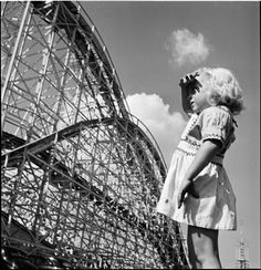 """Young Girl at Palisades Amusement Park – by Stanley Kubrick, Look Magazine, """"Life in New York""""  1947"""