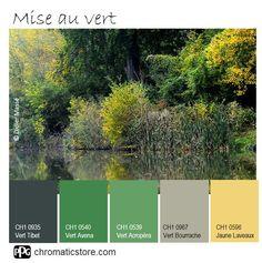 Voici une palette de #couleurs équilibrée et tonique qui vous permettront de créer une atmosphère confortable et pleine d'entrain. www.chromaticstore.com