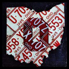 Ohio State vintage license plates