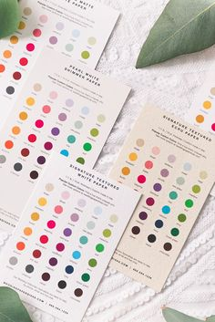 Paper and color swatches from Wedding Paper Divas