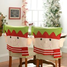 Elf+Chair+Covers,+Set+of+2+|+Kirklands-these are adorable
