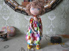 Этот мастер-класс с выкройкой расскажет как сшить своими руками текстильную интерьерную куклу.. Фото №1