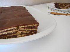 tarta de chocolate y galletas maria Sweets Cake, Sugar Free Desserts, Sin Gluten, Sweet Recipes, Tiramisu, Delicious Desserts, Pie, Cupcakes, Bread