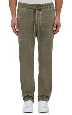 Hommes Lavé Pantalons De Coton Mince Cordon De Serrage James Perse IyoVINDp1g