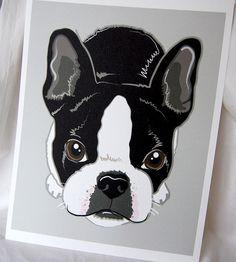Boston Terrier print - looks just like Kingston
