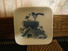 Vintage Royal Copenhagen 3  3/8 Square Pin Dish by TeacupsNMore
