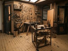 An artist's studio made entirely out of cardboard | Creative Boom