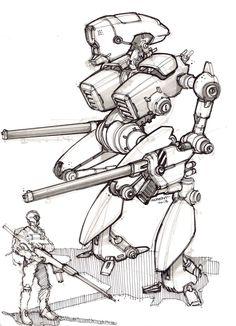 Crazy robot! sketch-a-day-415