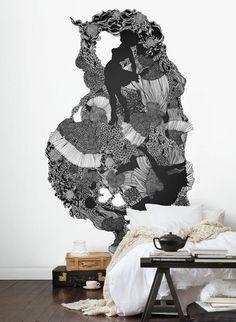 Wandbild Passionate Ink - Digitales Wandbild von MR Perswall