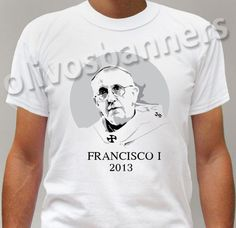 $29,99 Brand New t-shirt POPE FRANCISCO 1 FRANCIS ARGENTINE FRANCESCO PAPA free ship