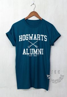 Hogwarts Alumni shirt Harry Potter t shirt tee by AppleSmileTee