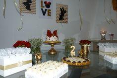 Minnie party festa Minnie fiesta vermelho dourado