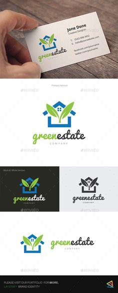 Green Real Estate Logo Template Vector EPS, AI Illustrator. Download here: https://graphicriver.net/item/green-real-estate-/17495327?ref=ksioks