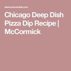 Chicago Deep Dish Pizza Dip Recipe | McCormick