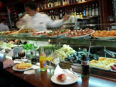 La Cerveceria Catalana in Barcelona - amazing tapas. Come late afternoon and have a snack to avoid the lines...