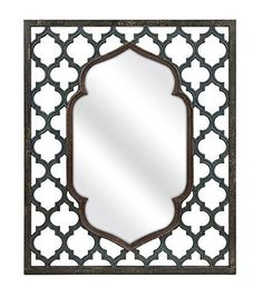 Prime Décor Collection Aidan Rectangular Wall Mirror 46.75 inch h x 38.75 inch w x 1.25 inch