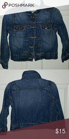 OSHKOSH B'GOSH Girls Jean Jacket Size 5 Girls Denim Jacket Osh Kosh Jackets & Coats Jean Jackets
