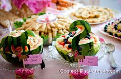 chow cowgirl party | ... toppers from etsy.com then I wrote the name of each food item on it