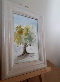 Watercolors-Original Watercolors Painting on Aquarelle