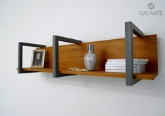 wall shelf - combination of iron and wood