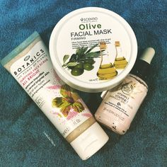 A little bit of pampering  Purifying face scrub from @bootsuk  Olive Firming Facial Mask from #Scentio at @beautybuffetshop  Vitamin E overnight Facial Oil from @thebodyshopindia  Goodnight sweets  #nightroutine #bedtime #beauty #routine #bootsuk #pharmacy #beautybuffet #thebodyshop #drugstore #skincare #beautyblog #bblogger #beautyjunkie #scrub #mask #serum #facialoil #flatlay #flatlayoftheday