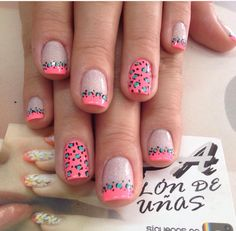 70 Trendy Spring Nail Designs And Colors Inspire You 2019 - - Tiger Nails, Leopard Nails, Trendy Nail Art, New Nail Art, Diy Nail Designs, Nail Designs Spring, Fingernails Painted, Animal Nail Art, French Tip Nails