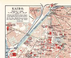 1904 Antique City Map of Cairo, Egypt at the beginning of the 20th Century by Maptimistic on Etsy https://www.etsy.com/listing/114184355/1904-antique-city-map-of-cairo-egypt-at