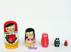 Anatomy of a Russian Doll 5pc hand illustrated by VandinosLair