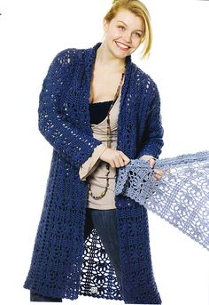 Duster Jacket Knitting Pattern : 1000+ images about Crochet Sweaters on Pinterest Pattern library, Ravelry a...
