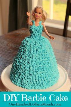 DIY Barbie Cake #DIY #BARBIE #CAKE I wanted one sooooo bad but never got!!!