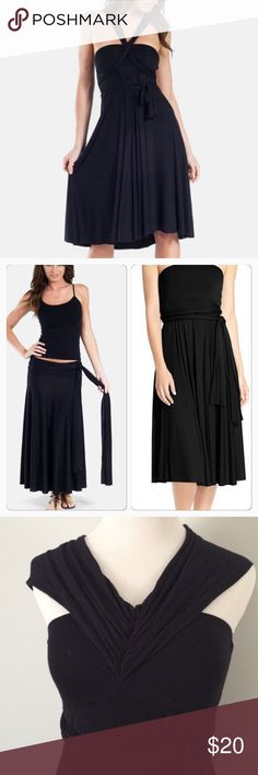 Nordstrom ▪️ Black convertible cover up Dress Worn once or twice. From Nordstrom. Can be worn multiple ways. Soft fabric. Elan Dresses