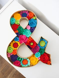 """Felt Floral Letter - """"&"""" Ampersand with Felt Flowers (35.00 USD) by SugarSnapBoutique"""