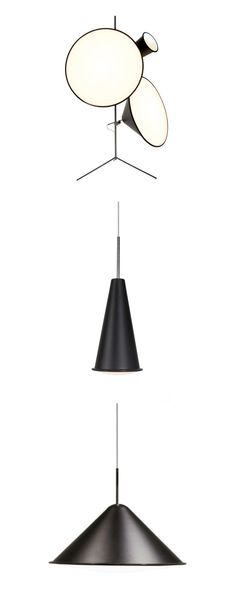 Tom Dixon Cone Light - Multifunctional lamp - pendant, floor and on a stand. Tom Dixon, White Acrylics, Multifunctional, Modern Lighting, Pendant Lamp, Diffuser, Light Bulb, David, Ceiling Lights