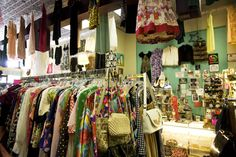 shopping vintage  Show me the way to this shop.  Would love to have a vintage clothing shop.  bfs