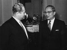 Außenminister Kreisky 1962 gemeinsam mit dem UN-Generalsekretär Sithu U Thant.
