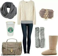Neutral outfit for cold weather :)