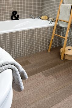 @Dorian Nodler Cork Floors In Wood Slate Shapes. Cork Flooring Bathroom, Bathroom  Floor