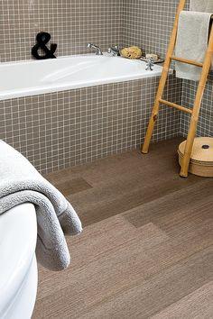 @Dorian Nodler Cork floors in wood slate shapes.