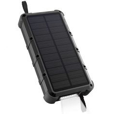 OUTXE Waterproof Solar Power Bank with Flashlight, Dual Input, Quick Charge Rugged Solar Phone Charger Solar Phone Chargers, Solar Charger, 3d Printer Projects, Solar Power System, Shape Coding, Flashlight, Diy Solar, 3d Printing, Hot